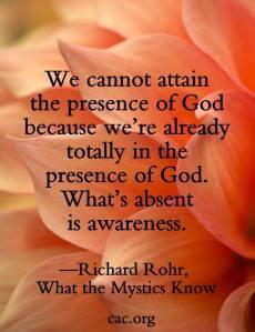 presence of God richard rohr
